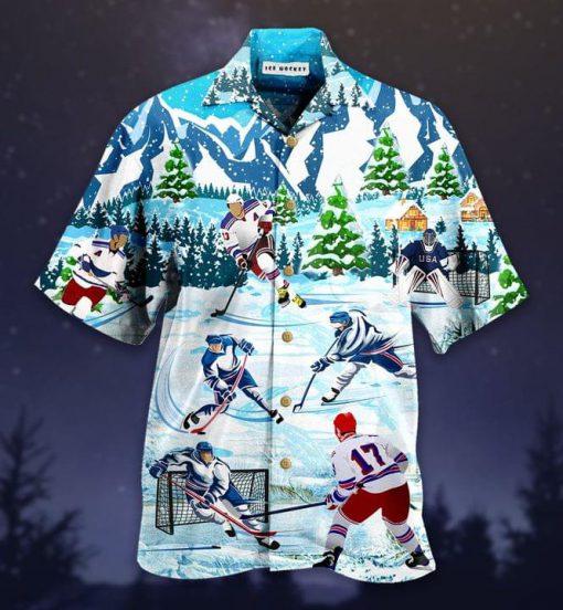 Ice Hockey Hawaiian Shirt