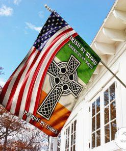 Irish By Blood American By Birth Patriot By Choice Garden Flagz