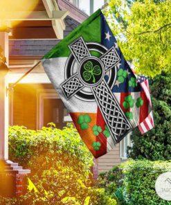 Irish Celtic Knot Cross Garden Flag
