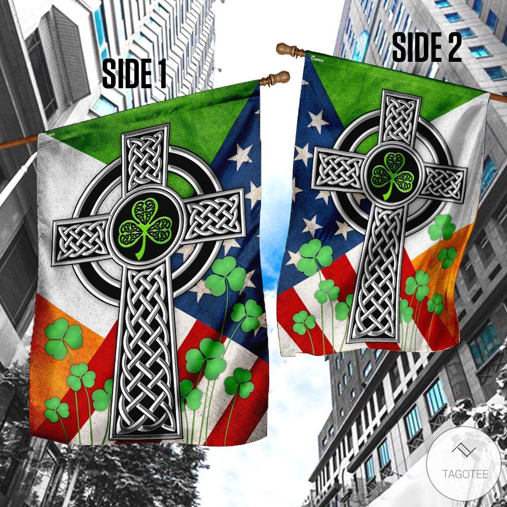 Irish Celtic Knot Cross Garden Flagv
