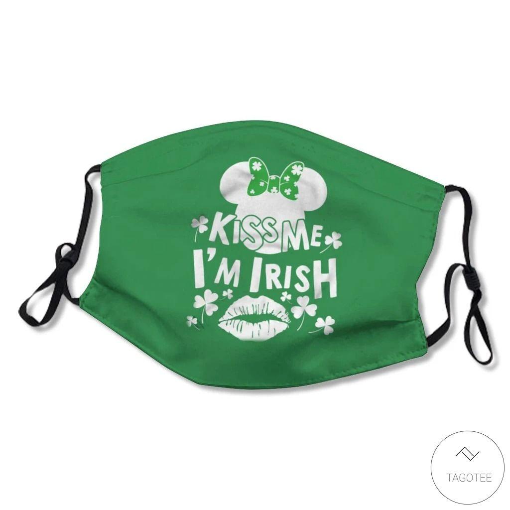 Kiss Me I'm Irish Saint Patrick's Day Face Mask