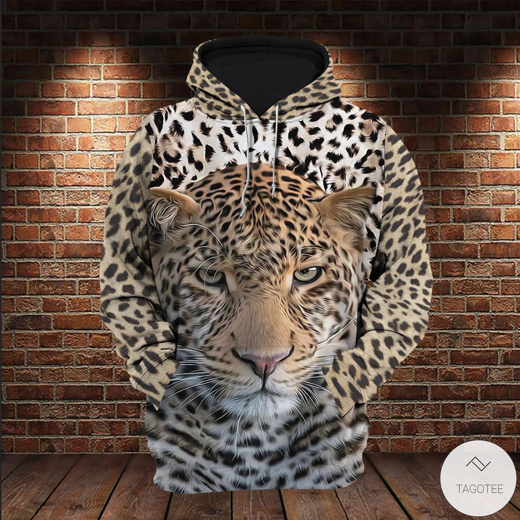 Leopard 3D All over Print Hoodiesz