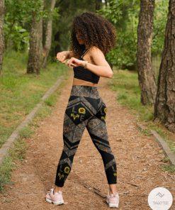 Love Hunting Camo Sunflower 3D Leggingsz