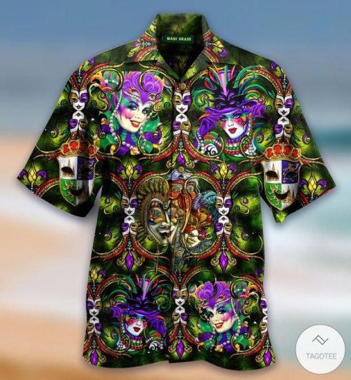 Mardi Gras Hawaiian Shirt