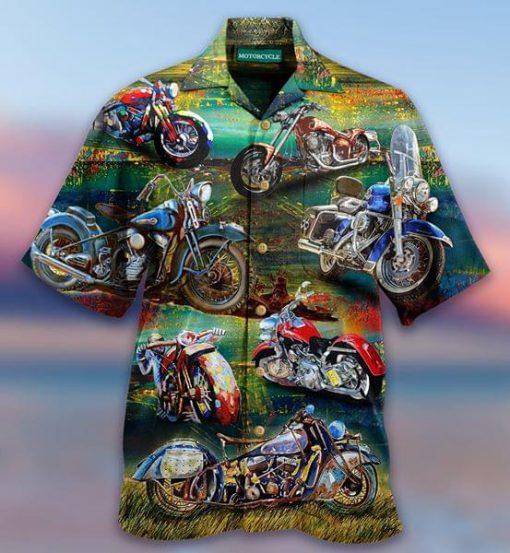 Motorcycle Vintage Hawaiian Shirt