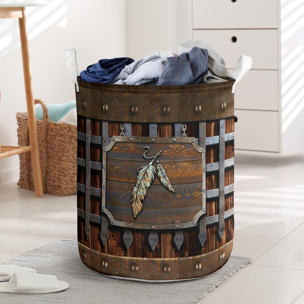Native American Iron Vintage Laundry Basket