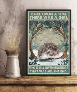 Once upon a time there was a girl who really loved Hedgehog That was me poster 3