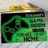 Personalized A gamer and his player two live here doormatx