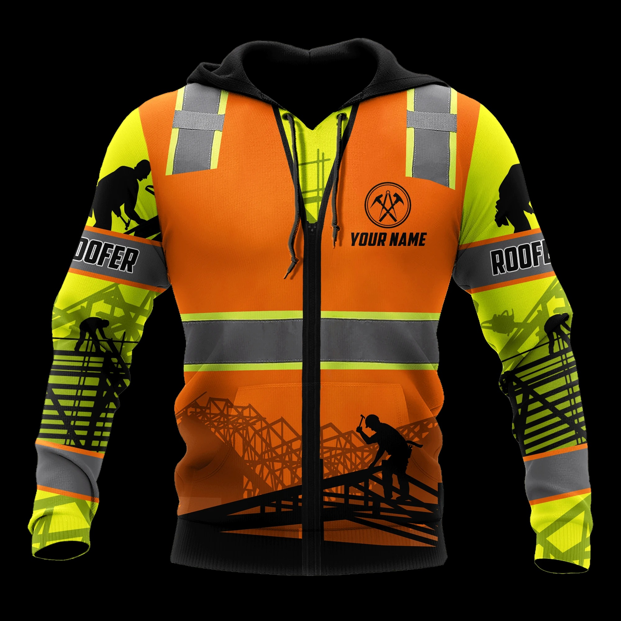 Personalized Roofer Protective Costume 3D All Over Printed Hoodie
