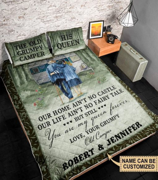 Personalized The Old Grumpy Camper Our Home Ain't No Castle Our Life Ain't No Fairy Tale Bedding Sets 2
