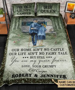Personalized The Old Grumpy Camper Our Home Ain't No Castle Our Life Ain't No Fairy Tale Bedding Sets