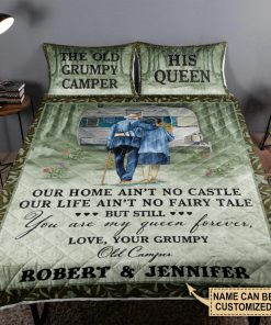 Personalized The Old Grumpy Camper Our Home Ain't No Castle Our Life Ain't No Fairy Tale Bedding Sets 3