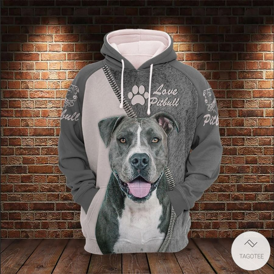 Pitbull Lover 3D All Over Print Hoodie