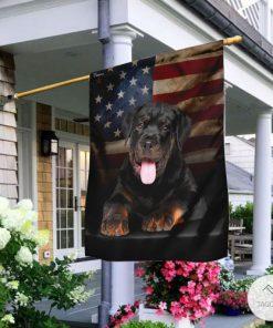 Rottweiler American Garden Flag