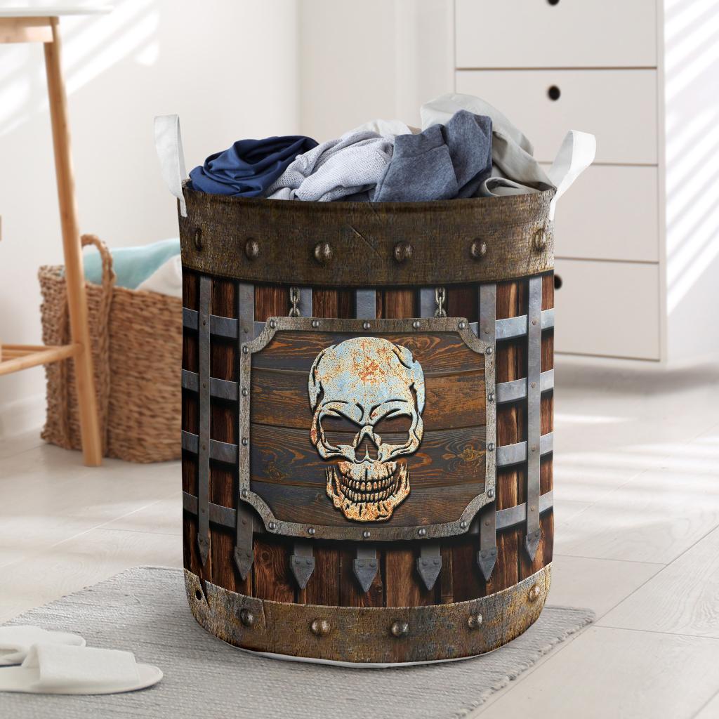 Skull Iron Vintage Laundry Basket