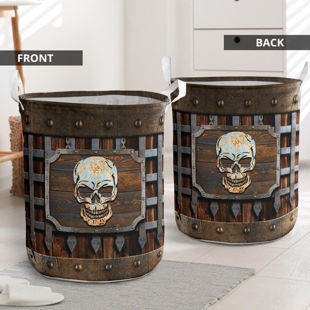 Skull Iron Vintage Laundry Basketz