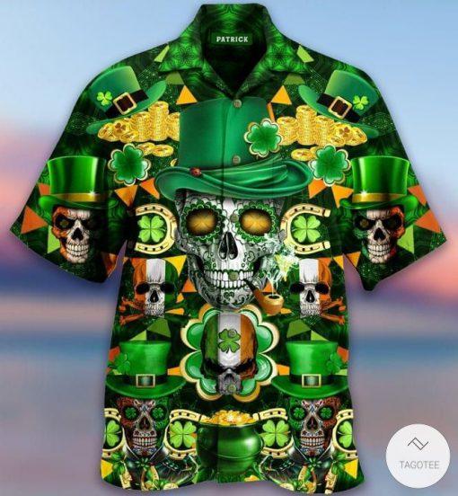 Skull Saint Patrick's Day Hawaiian Shirt