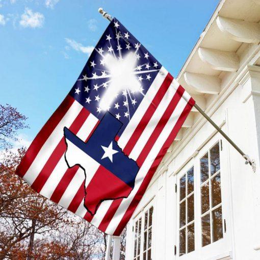 Texas US Flag Jesus Garden Flag