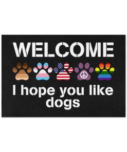 Welcome I hope you like dogs doormat