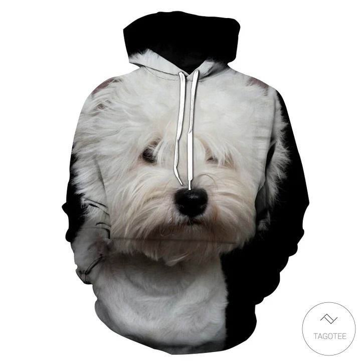 West Highland White Terrier 3D All Over Print Hoodie