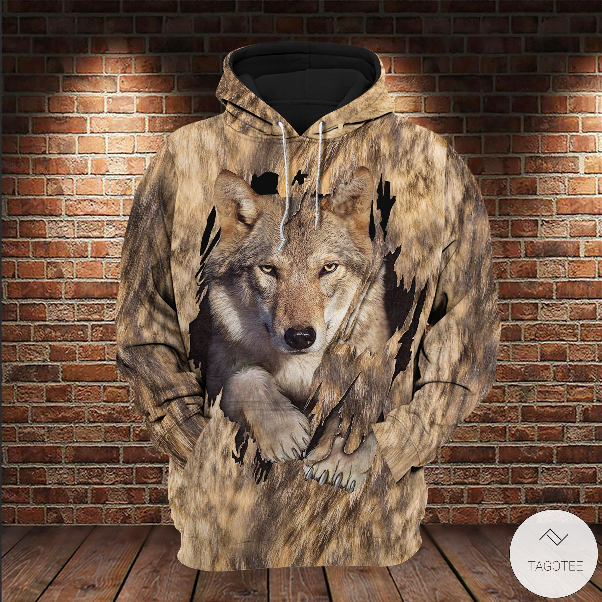 Wolf Camouflage 3D All over Print Hoodies