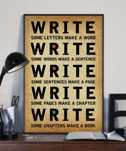 Write Some Letters Make A Word Sentence Page Chapter Book Poster 1