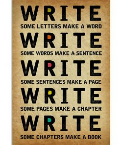 Write Some Letters Make A Word Sentence Page Chapter Book Poster