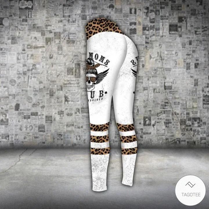 Skull Bad Moms Club Wine Provided 3D legging
