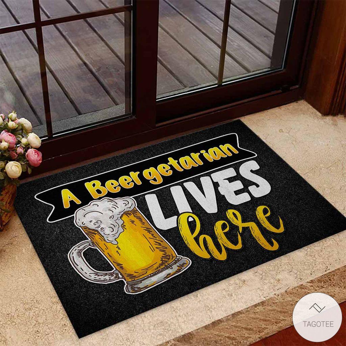 A Beergetarian Lives Here – Beer Doormat