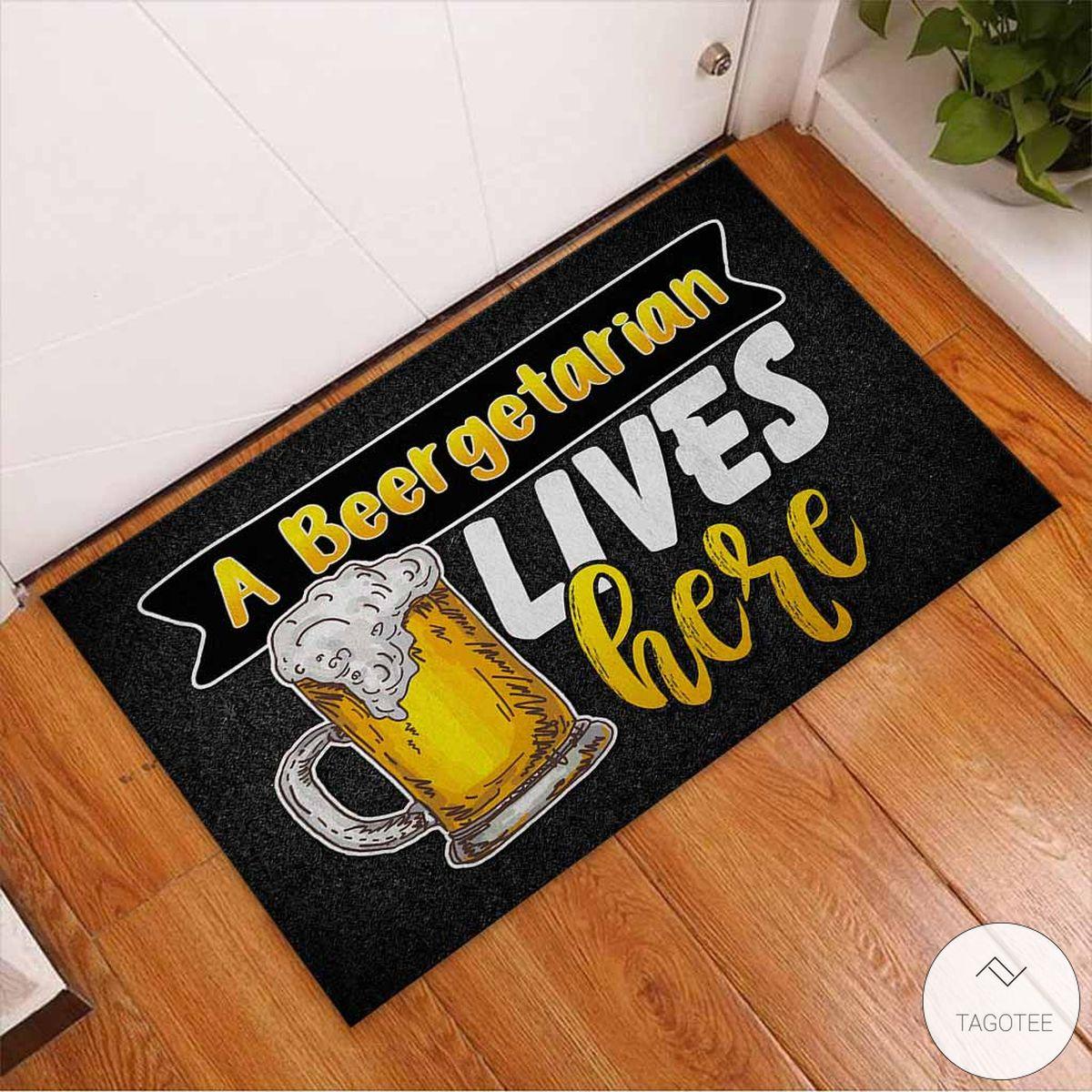 A Beergetarian Lives Here – Beer Doormatc