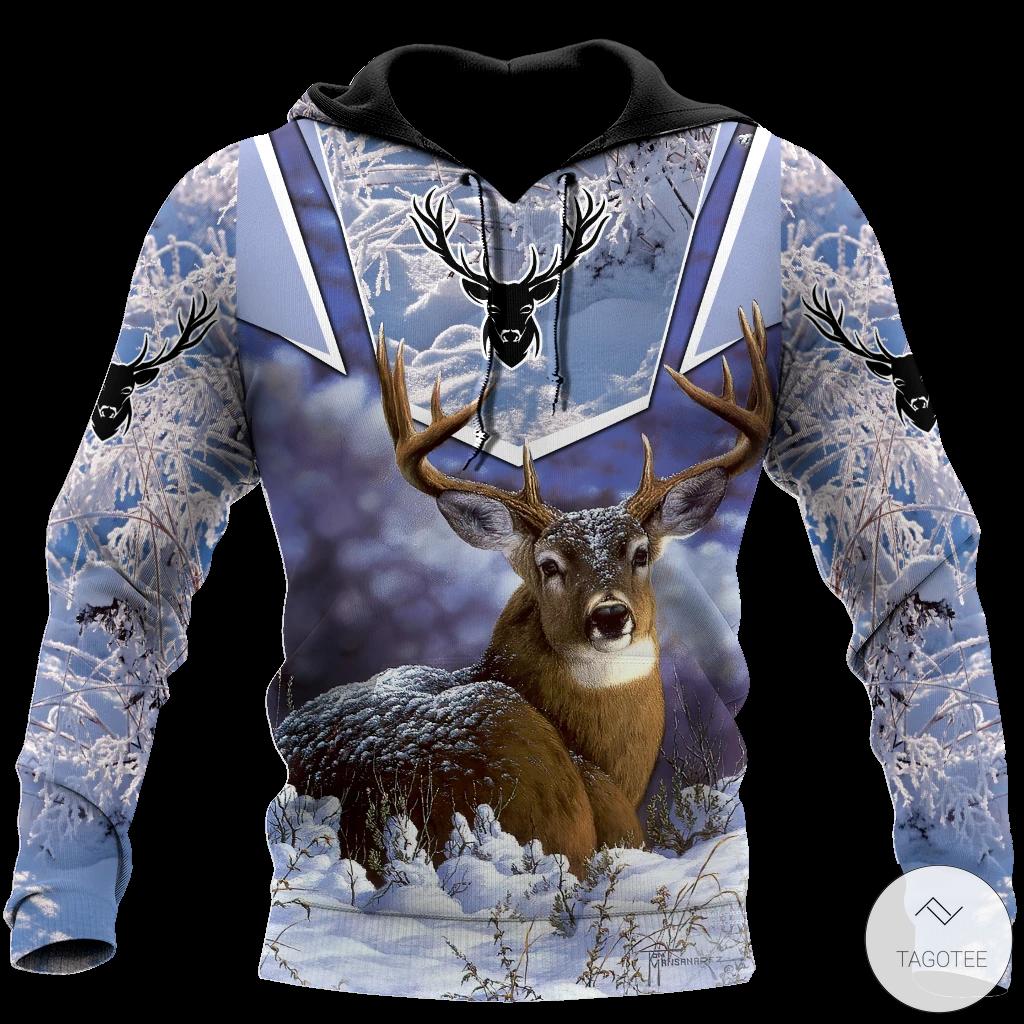 Deer Snow 3D All Over Printed Hoodie