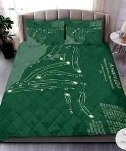 Acoaxet Club Map 3D Quilt Bedding Set