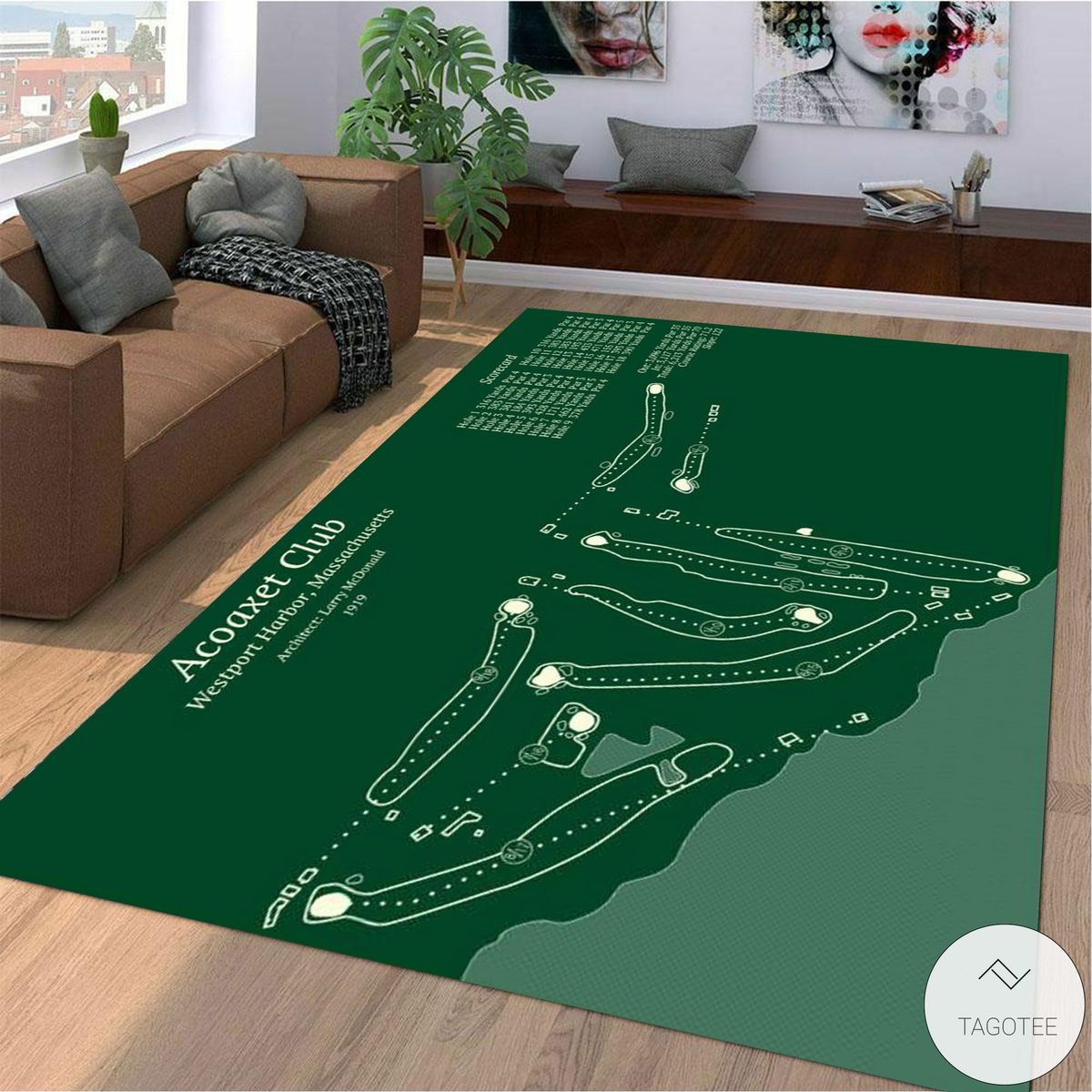 Acoaxet Club Map Layout Rug
