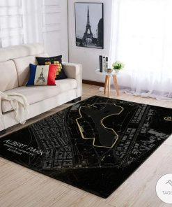 Albert Park F1 Circuit Map Rug