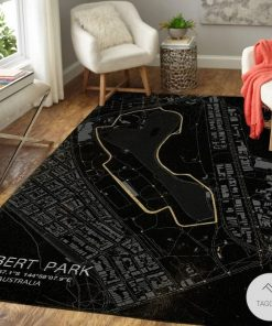 Albert Park F1 Circuit Map Rugz