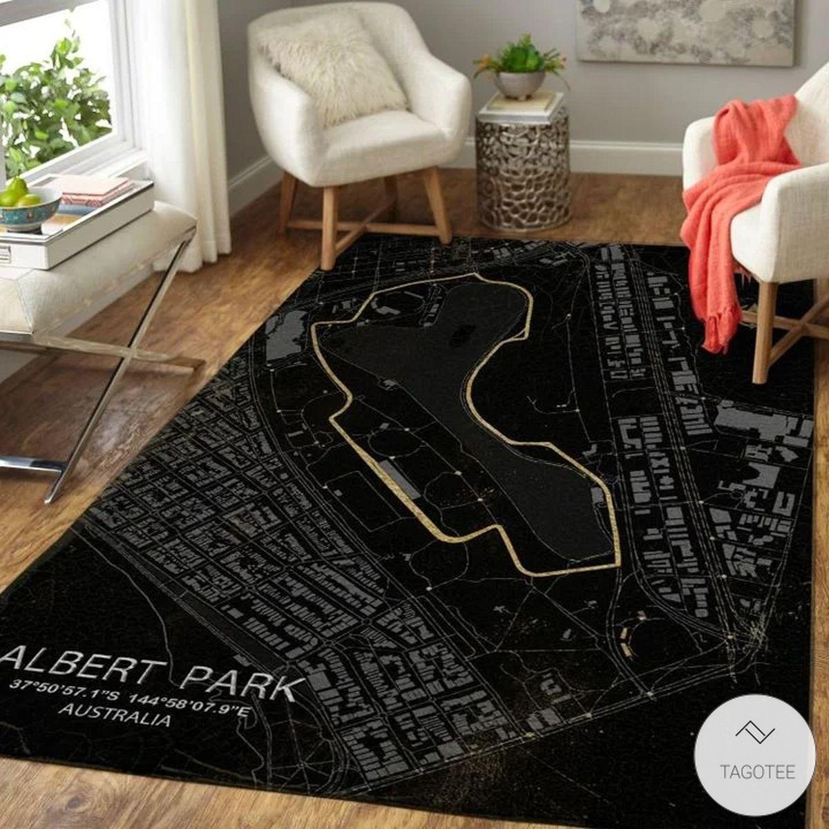 Albert Park F1 Circuit Map Rugz