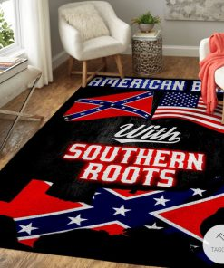 American Born With Deep Southern Roots Confederate Flag Rug