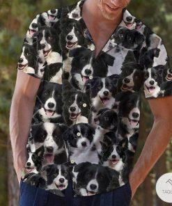 Australian Collie Dog Pattern Hawaiian Shirt