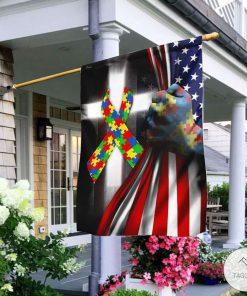 Autism Jesus Us Flag