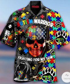 Autism Warrior Fighting For My Son Hawaiian Shirt