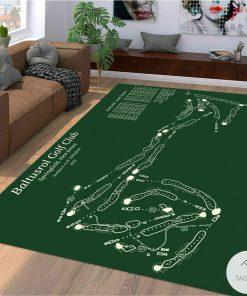Baltusrol Golf Club Map Layout Rug