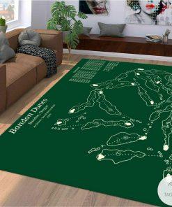 Bandon Dunes Golf Course Map Layout Rug
