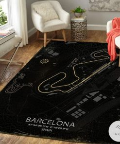 Barcelona F1 Circuit Map Rugx