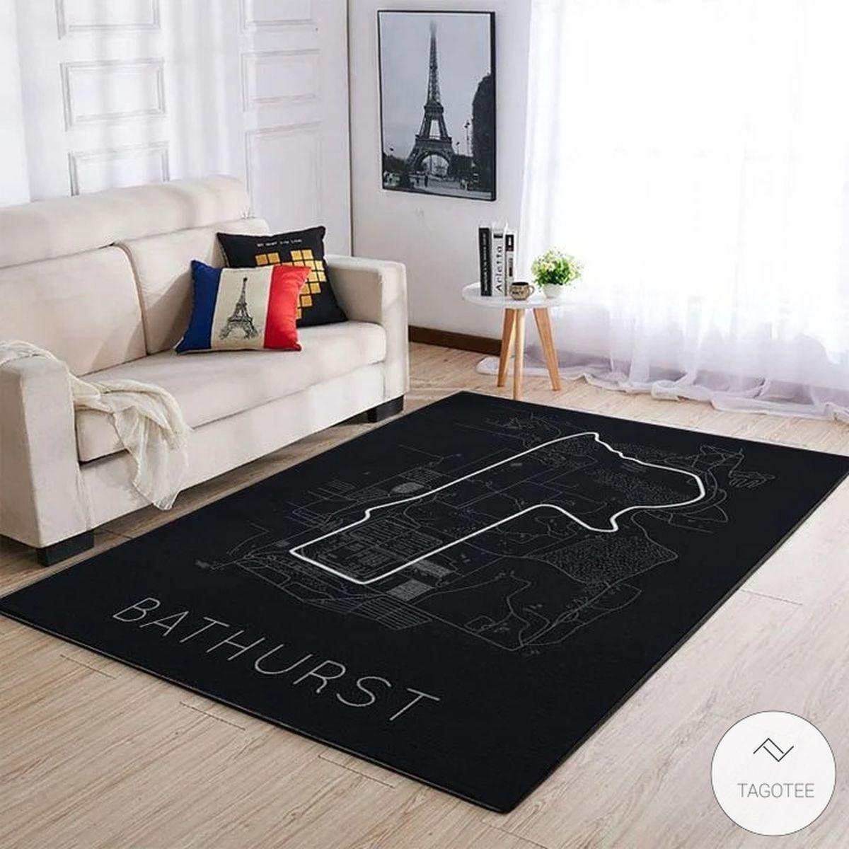 Bathurst F1 Circuit Map Rug