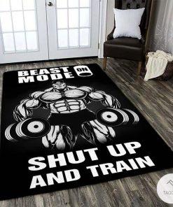 Beast Mode On Shut Up And Train Rug