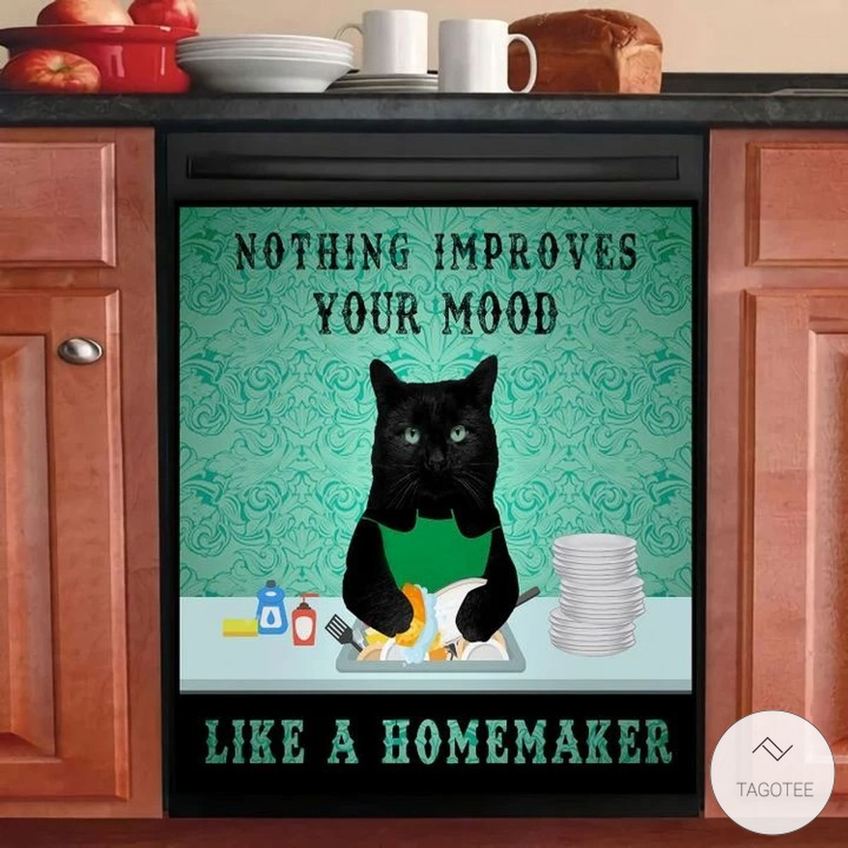 Black Cat Nothing improves your mood like a homemaker dishwasher cover