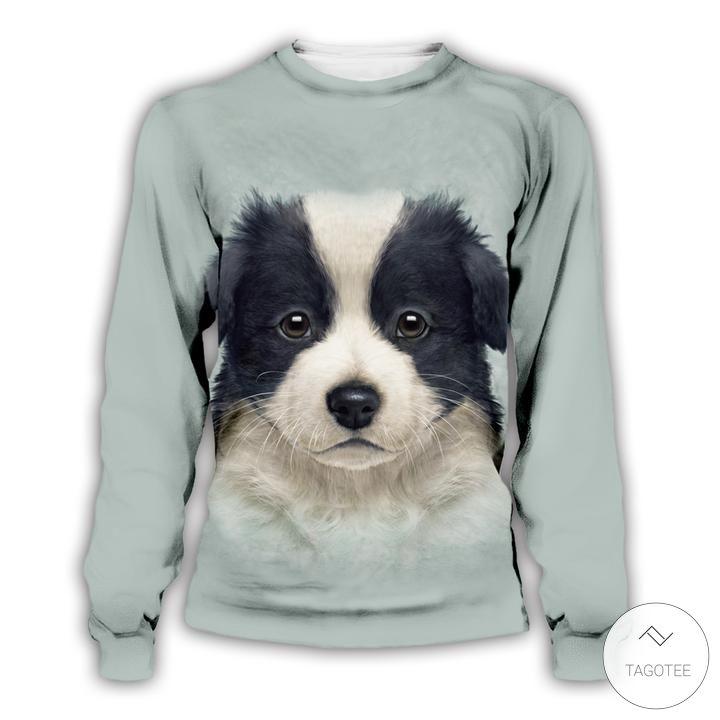 Border Collie Puppy 3D Sweatshirts