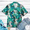 Bull Terrier Dog Tropical Pattern Hawaiian Shirt