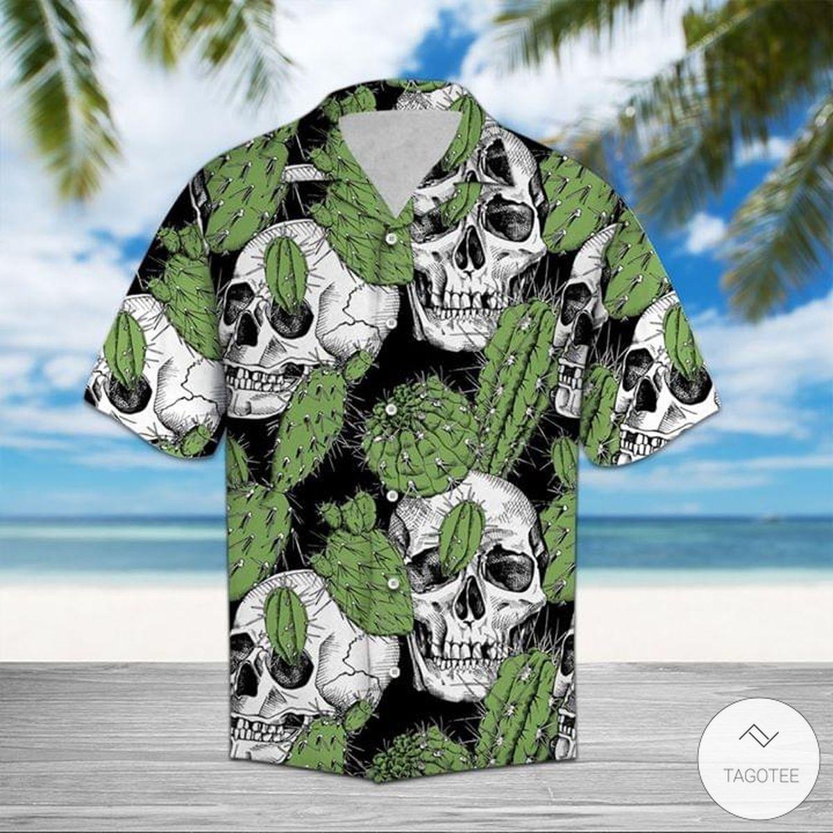 Cactus Skulls Pattern Hawaiian Shirt
