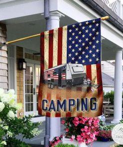 Camping US Flag
